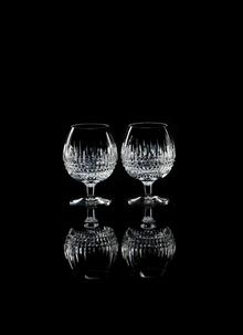 Waterford Crystal Lismore Diamond Brandy Pair