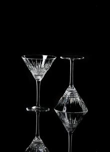 Waterford Crystal Lismore Diamond Martini Pair