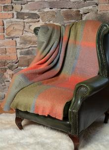 Woodlands Large Check Mohair Wool Throw