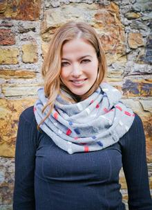 Wool Cashmere Infinity Scarf Multi
