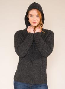 Aisling Hooded Aran Sweater