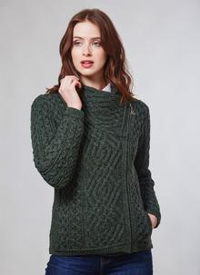 Aran Cable Knit Side Zip Jacket