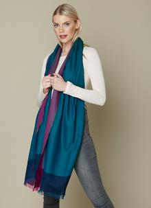 Diamond Divide Worsted Wool Wrap