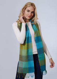 Avoca Merino Wool Scarf Green Fields