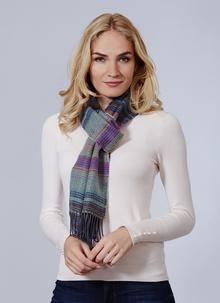 Avoca Merino Wool Scarf Multi Stripe