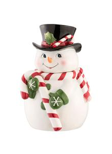 Candy Cane Snowman Cookie Jar