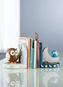 Day and Night Owl Bookends