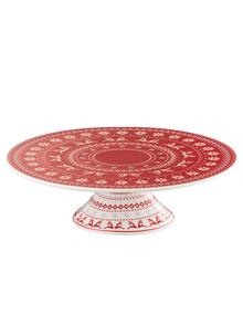 Fairisle Footed Christmas Cake Stand
