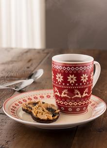Fairisle Mug & Tray Christmas Set