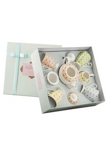 Polka Dot Roses Tea Set