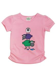 Baby Girl Three Sheep T-Shirt