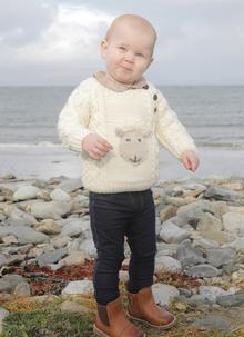 dfbf149eba3 Baby Hand-Knit Aran Sheep Sweater ...