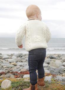 Baby Hand-Knit Aran Sheep Sweater