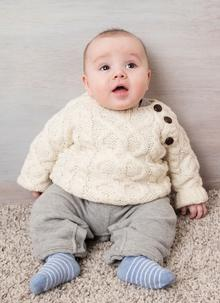 Baby Hand-Knit Aran Sweater