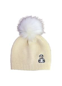 Kids Sheep Fur Bobble Hat