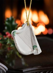 Belleek Harp Ornament