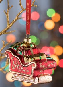 Sleigh Glass Ornament
