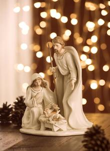 belleek nativity family ornament - Nativity Christmas Decorations