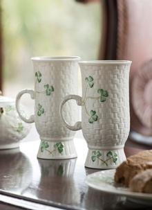 Shamrock Irish Coffee Mugs Pair