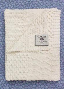 Blarney Aran Patchwork Throw