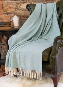 Parquet Aqua Lambswool Throw
