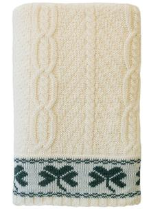 Shamrock Cable Stitch Aran Throw
