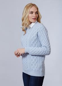 Unisex Blasket Honeycomb Stitch Aran Sweater