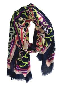 Celtic Scarf Navy Multi