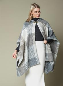 Sarah Hooded Cape Misty Beige