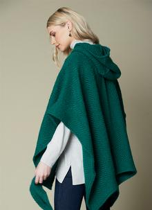 Sarah Hooded Cape Pine