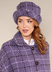 Country Hat Violet Check