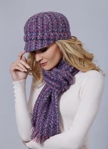 Newsboy Hat Connemara Violet