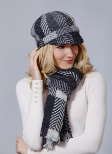 Newsboy Hat Multi Grey