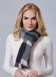 Country Scarf Multi Grey