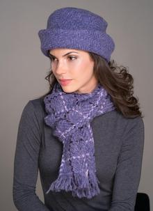 Country Scarf Violet Check