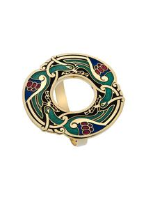 Enamel Celtic Scarf Ring