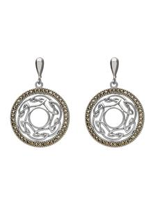 Celtic Knotwork Marcasite Earrings