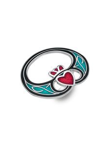 Enamel Claddagh Scarf Ring