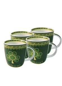Shamrock Spiral Mugs Set of 4