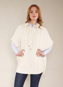 Colleen Aran Hooded Cape