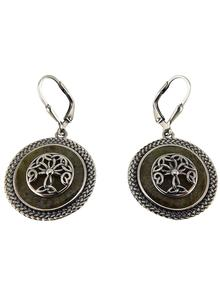 Connemara Marble Tree Of Life Round Earrings
