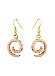 Copper Ancient East Spiral Drop Earrings