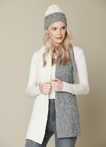 Diamond Contrast Beanie & Scarf Set