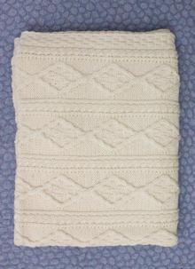 Diamond Stitch Aran Throw