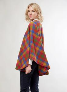 Donegal Tweed Check Shawl