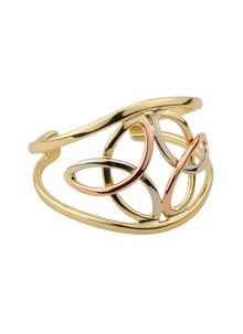 Double Trinity Knot Tri Color Bangle