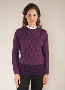 Erin Contrast Crew Neck Sweater