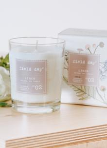 Large Linen Candle
