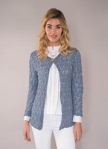 Finola Cotton Linen Cardigan Denim Blue