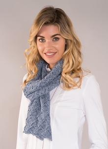 Finola Cotton Linen Scarf Denim Blue